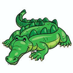Crocodile Cartoon Cute Illustration of cute cartoon crocodile.