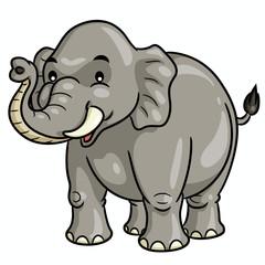 Elephant Cartoon Cute Illustration of cute cartoon elephant.