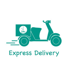 Delivery motorbike. Fast and convenient shipping.