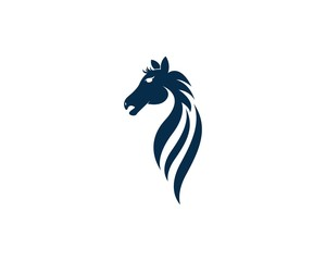 Horse logo design vector template