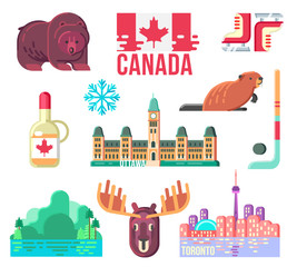Canada Day Design Elements