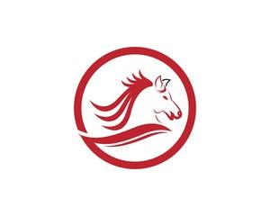 Horse logo design vector template