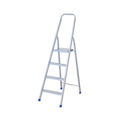 Construction Step Ladder isolated over white