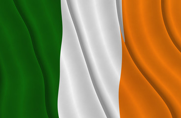 Illustration of a flying Irish flag