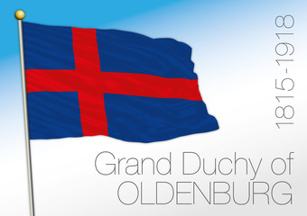 Duchy of Oldenburg historical flag, Germany