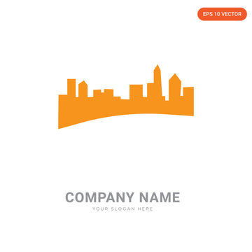 charlotte skyline company logo design