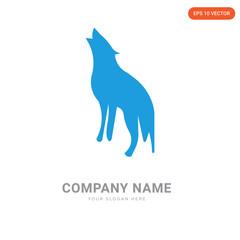 howling wolf company logo design