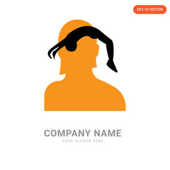 female headshot company logo design