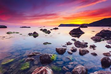 Spectacular Black Sea in the evening light.