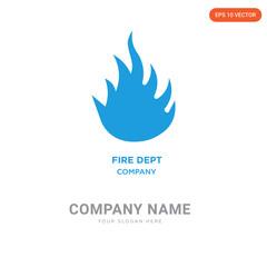 fire dept company logo design