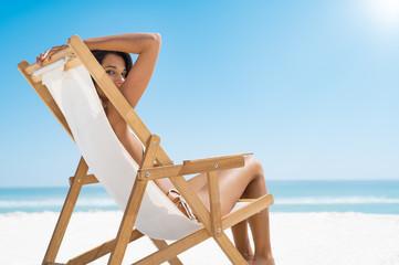 Beautiful girl summer relax