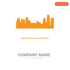 detroit skyline company logo design