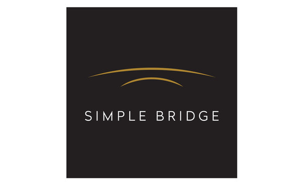 Golden Arch River Bridge Simple Minimalist logo