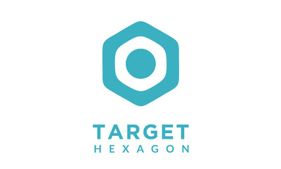 Simple rounded hexagon target symbol