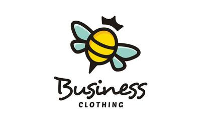 Cute Bee Queen logo design inspiration