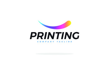 Colorful Logo For Printing Company Vector