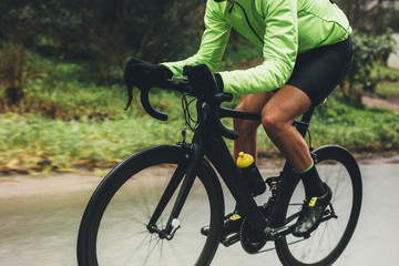 Foto auf Acrylglas Radsport Professional cyclist riding bike