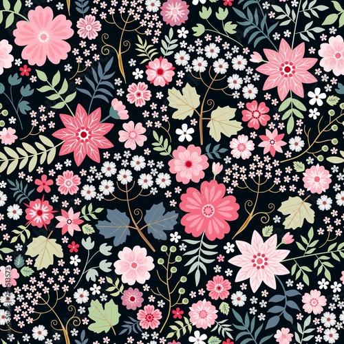 Romantic seamless pattern with little pink flowers and green leaves romantic seamless pattern with little pink flowers and green leaves ditsy floral illustration print mightylinksfo