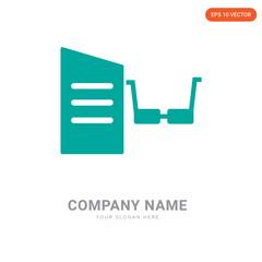 Reading company logo design