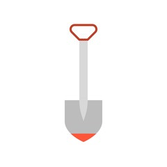 shovel  icon, flat design vector