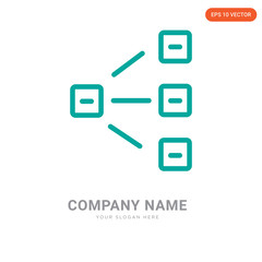 Hierarchical structure company logo design