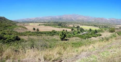 Cuban landscape panorama
