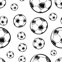 Seamless texture black footballs