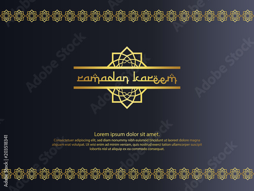 Abstract Gold Elegant Element Design For Ramadan Kareem