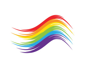 Rainbow icon template vector