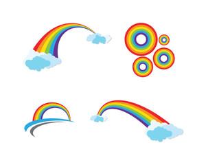 Rainbow icon template vector