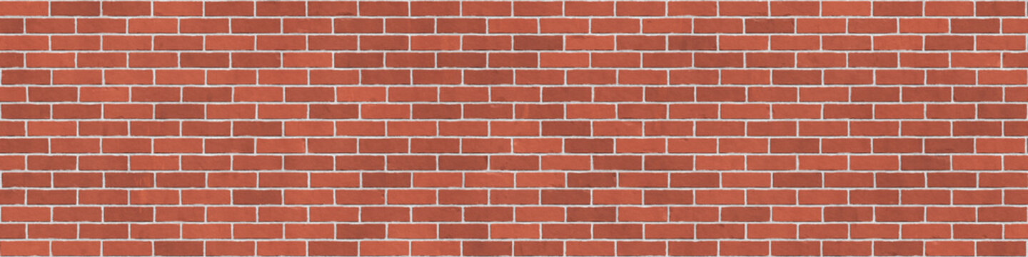 Background texture of red brick wall
