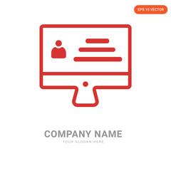Monitor company logo design