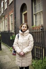 Street portrait of a woman in London
