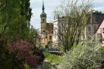 Wall Murals Nepal Ausblick auf die Alt-Katholische Christuskirche St. Konrand in Konstanz am Bodensee