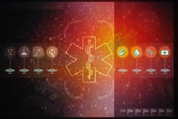 2d illustration medicine pharmacy sign snake