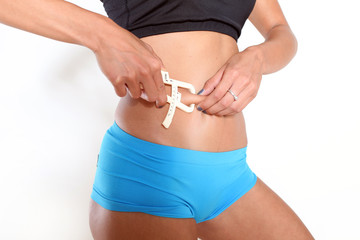 Frau Körperfett messen
