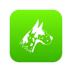 Great dane dog icon digital green for any design isolated on white vector illustration