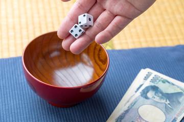 サイコロ賭博のイメージ / ギャンブルのイメージ