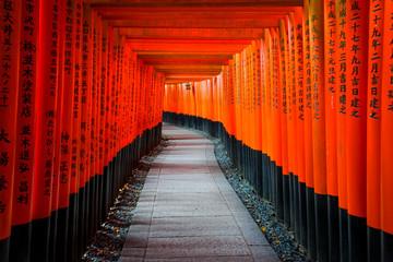 Senbon Torii at Fushimi Inari Shrine.