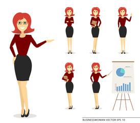 businesswoman flat pack