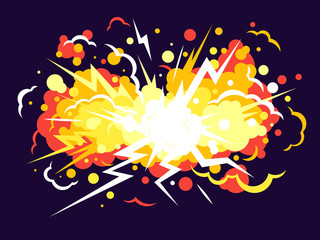 Cartoon Explosion Background