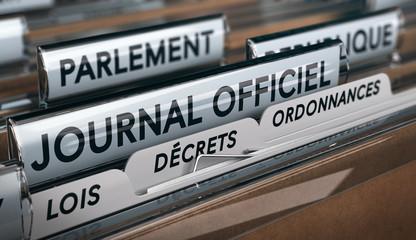Vote des lois au parlement et publication au journal officiel
