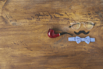 Fathers day composition with copyspace and accessories