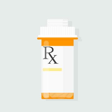 Prescription bottle vector. Clipart image isolated on white background