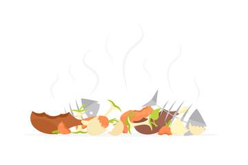 Recycling garbage organic food trash