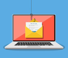 Login into account in email envelope