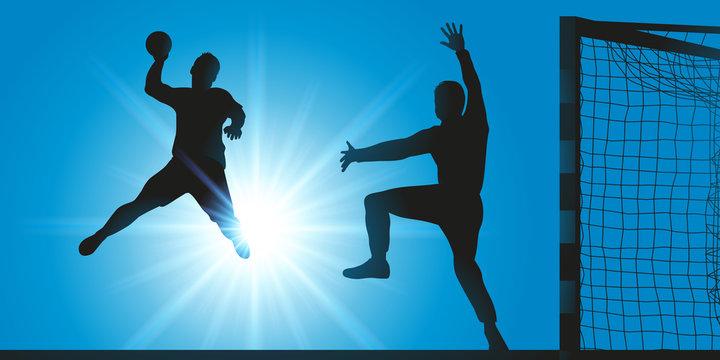 handball - hand - handballeur - tir - but - marquer - ballon - sport - sportif - équipe - terrain