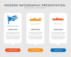 portland sky, detroit sky, puerto rico flag infographic
