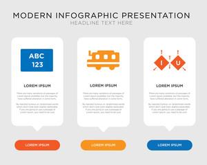 Cube, School bus, Abc infographic