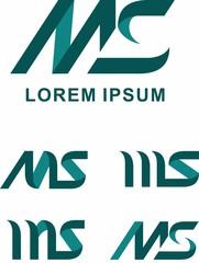 Letter MS Logo Template